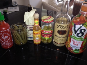 essential ingredients for a perfect Bloody Mary