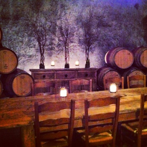 Private tasting table in Pride Caves