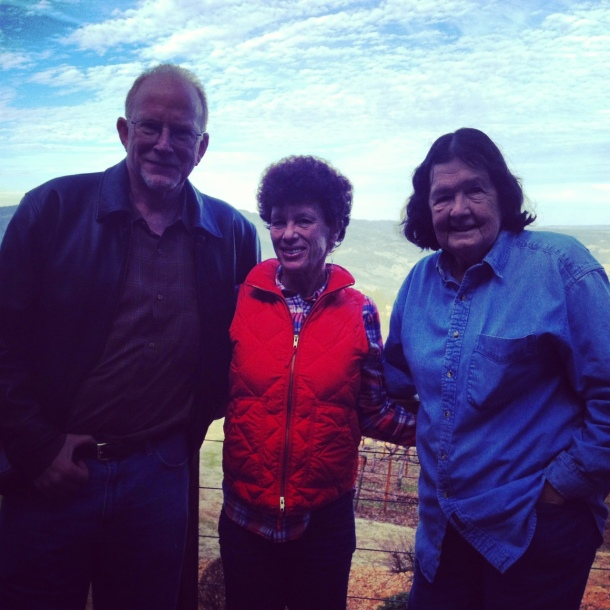 Dad, mom and Barbara at Paloma