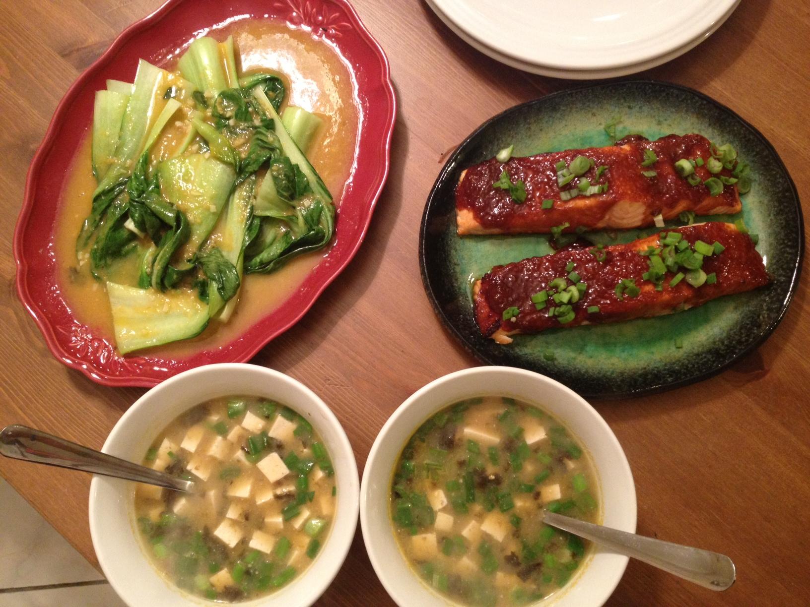 Miso-Sriracha Glazed Salmon Recipe — Dishmaps