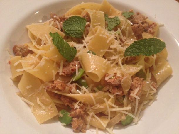 My version of the Pappardelle