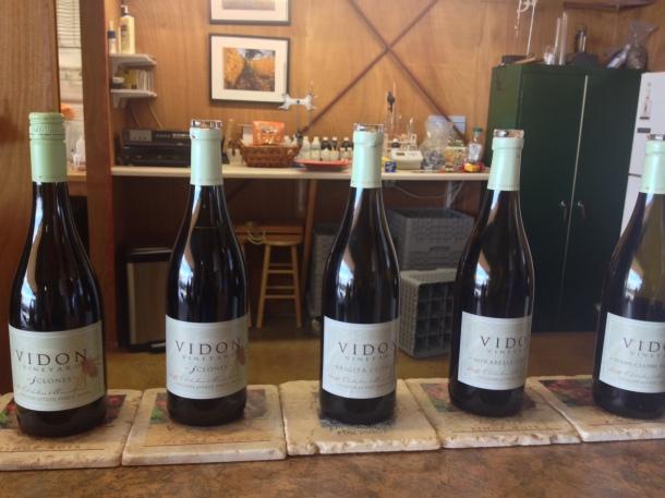 VIDON Pinot Noir tasting selection