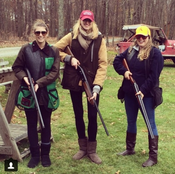 Skeet shooting with some family friends in the Poconos. I nicked one!