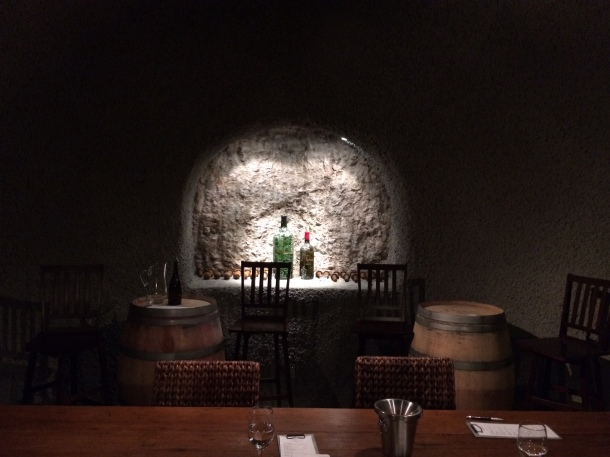Tasting room in the cave