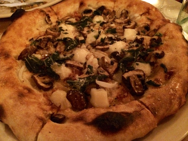 Mushroom and Tellegio Pizza