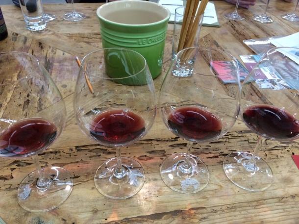 Pinot Noir line up.