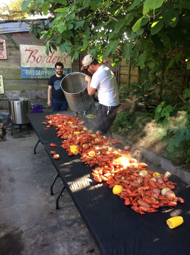Laying out the crawfish