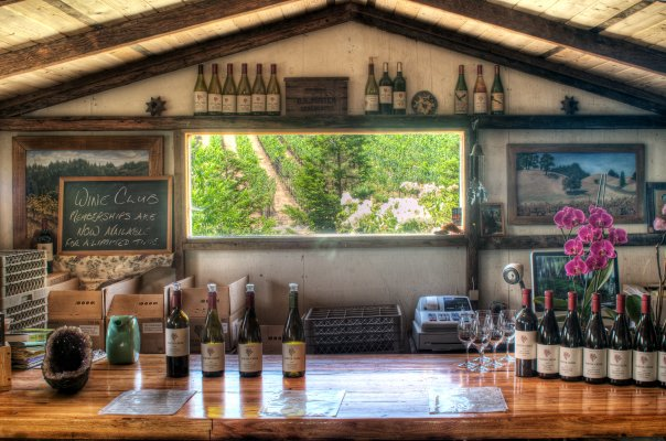 The tasting room at Porter Creek
