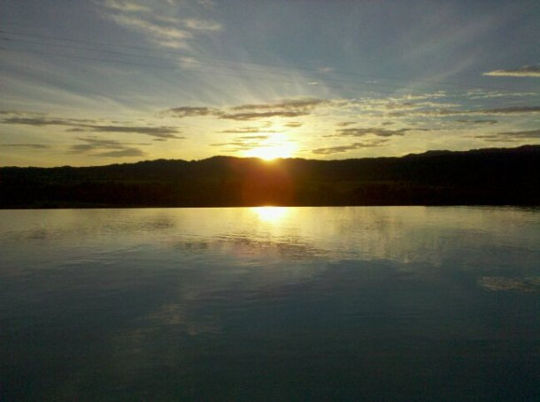 Taken in November 2010, with an early sunset over the Sonoma mountains