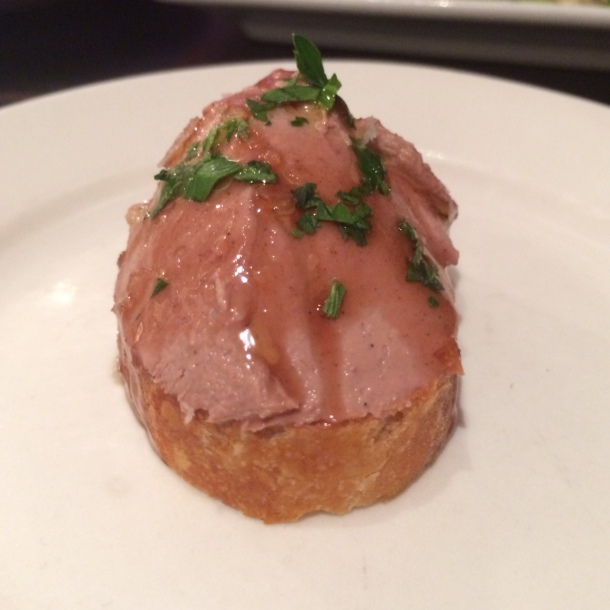 Chicken Liver Mousse crostini