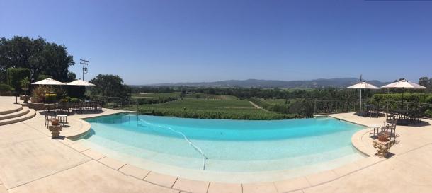 Panorama of the infinity pool