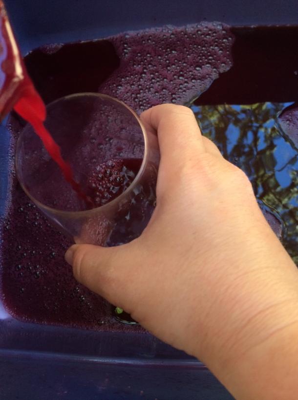 Tasting the juice